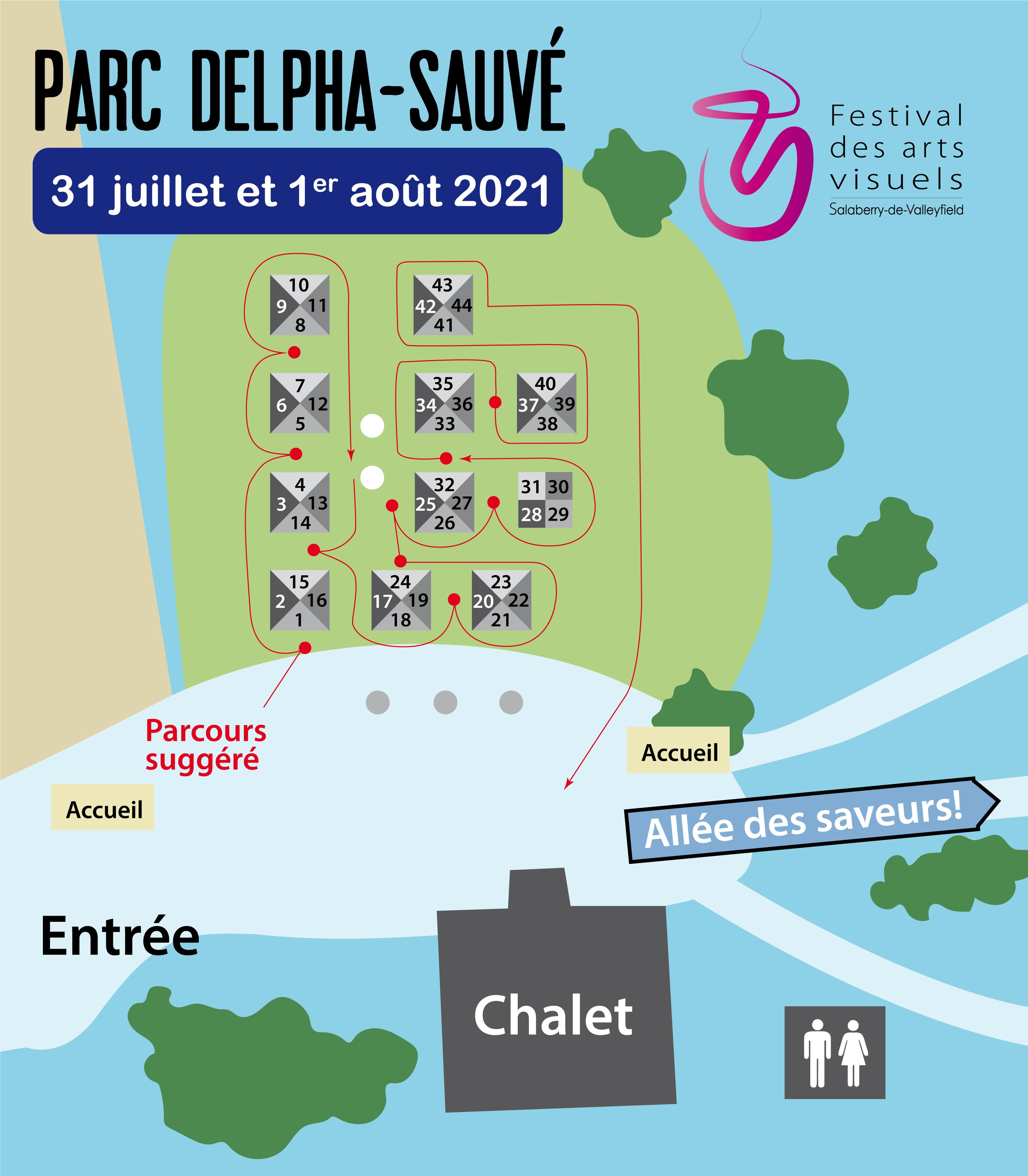 Plan Festival des Arts