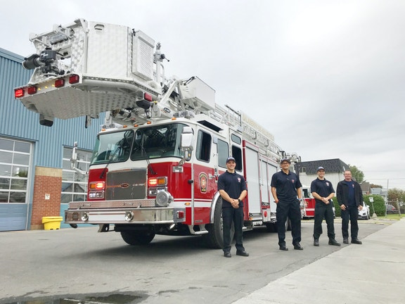 COMM 2020 Incendie Camion Echelle Plateforme Pompier Caserne 5