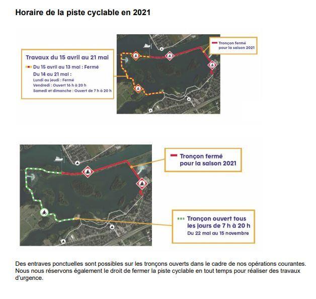 Horaire Barrage Saint-Timothée 2021